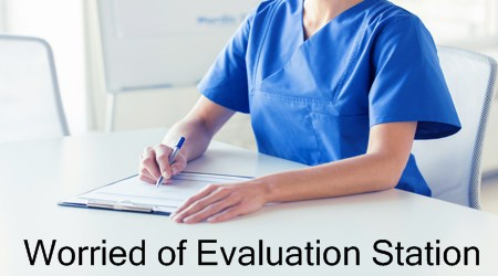 Evaluation Station in APIE Stations of NMC OSCE Exam